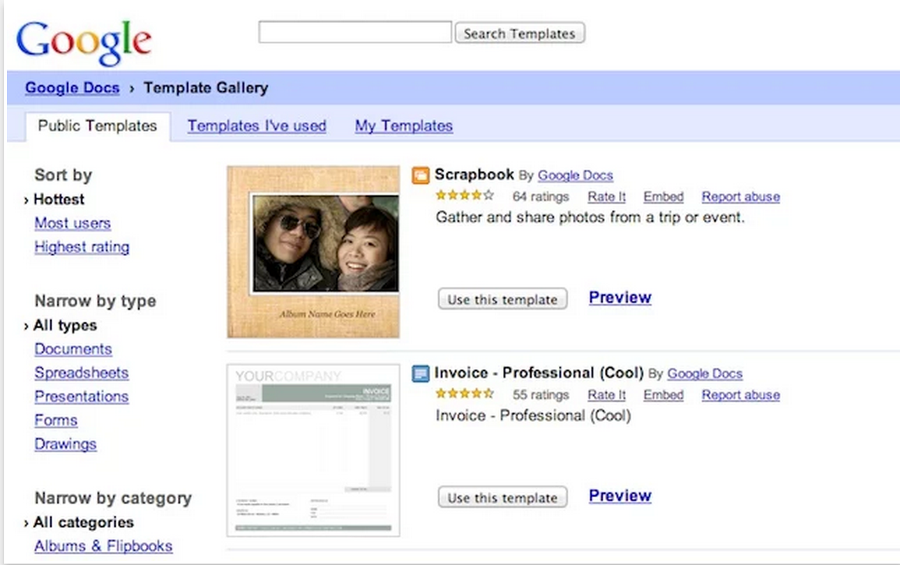 google drive template resumes