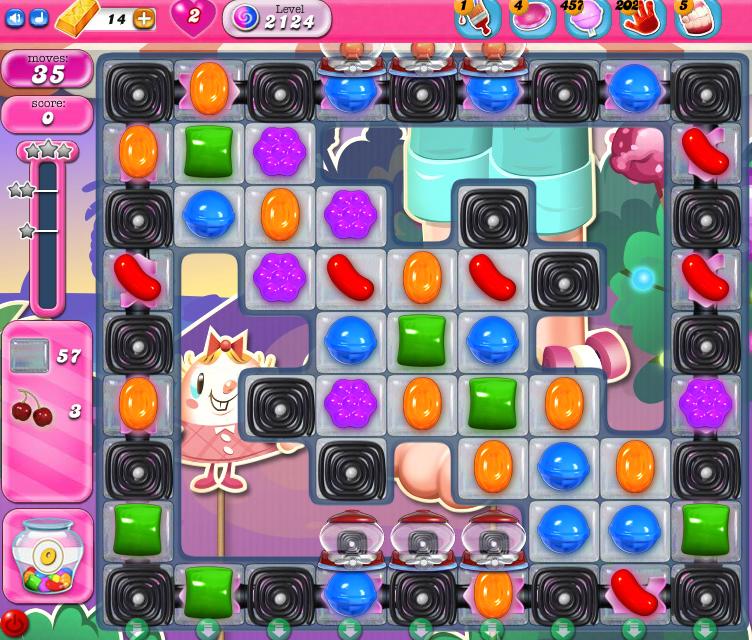 Candy Crush Saga level 2124