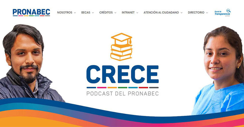 PRONABEC lanza «Crece», un podcast para el talento peruano - www.pronabec.gob.pe