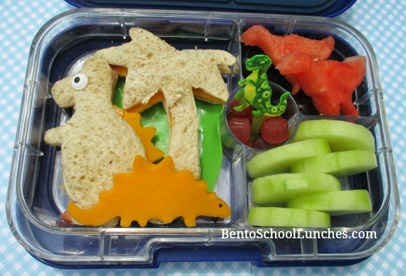 Dinosaur, Palm tree, bento school lunch,Yumbox