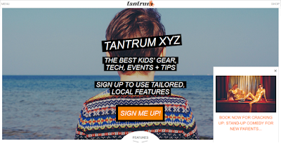 Picture of the homepage of TantrumXYZ