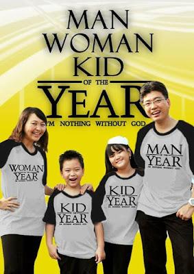 Model Baju Kaos Keluarga Plus Anak Buat Tahun Baru