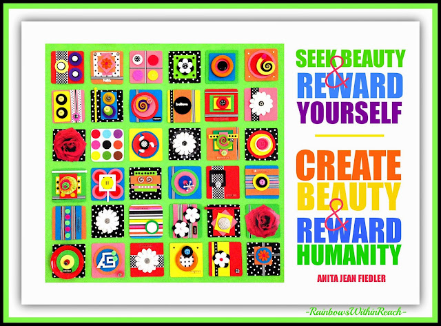 """Seek beauty & Create beauty"" quotation from Debbie Clement collection"