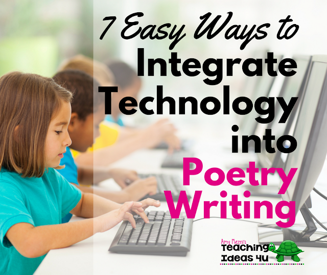 Would you like to integrate technology into your poetry writing lessons? This post reviews seven free apps and websites that can be used by upper elementary students when they write poetry.