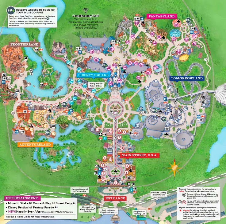 Mapa, Magic Kingdom