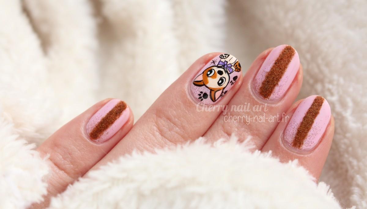 nail-art-chien-nouvel-an-chinois-poudre-velours