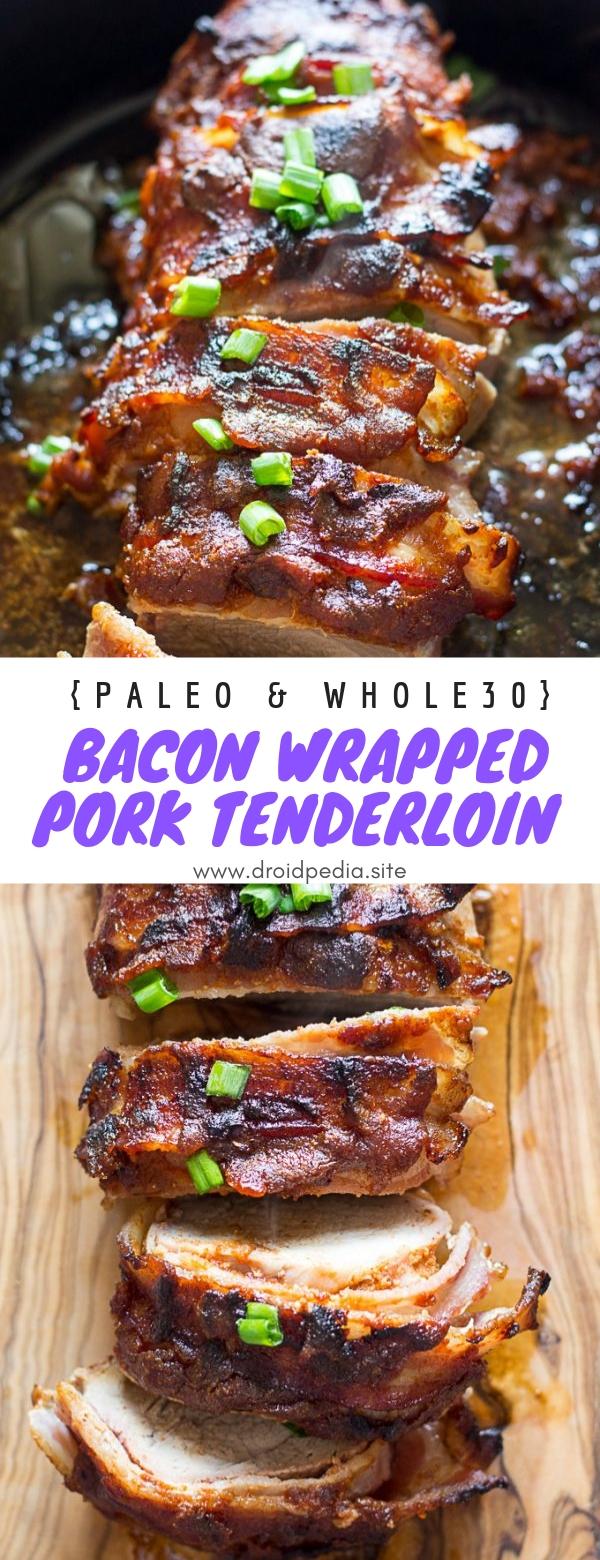 Bacon Wrapped Pork Tenderloin {Paleo & Whole30} #maindish #bacon #wrapped #renderloin #pork #paleo #whole30