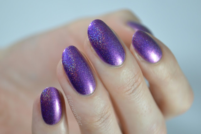 celestial dream swatch purple holo pink shimmer
