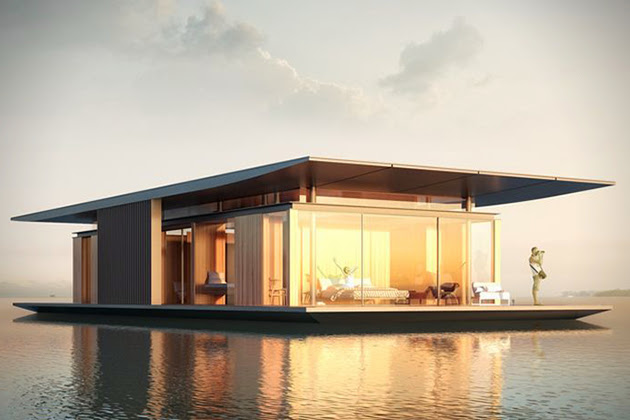 passion for luxury floating house concept presents new ideas for sustainability. Black Bedroom Furniture Sets. Home Design Ideas
