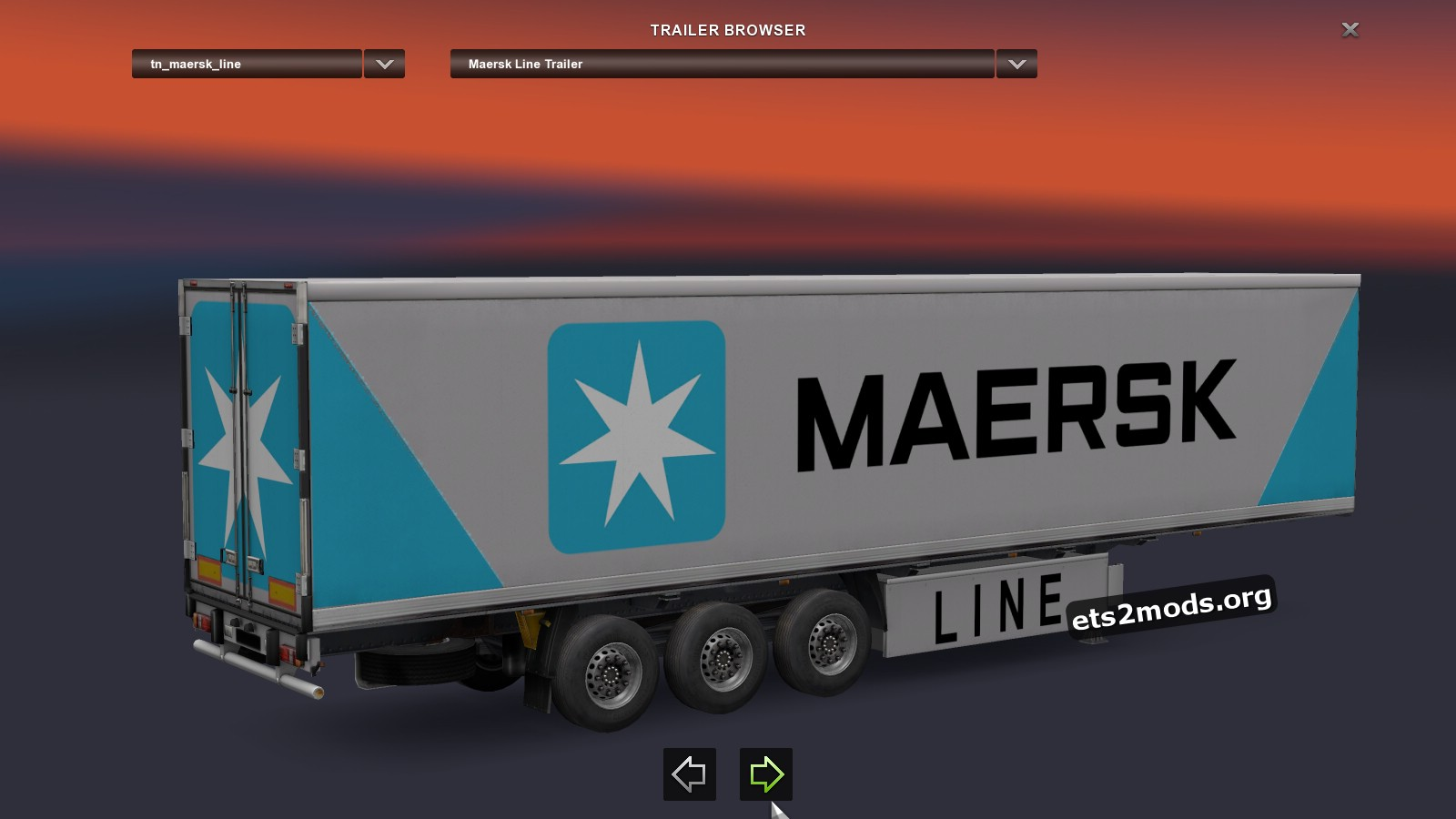 Standalone Trailer Maersk Line