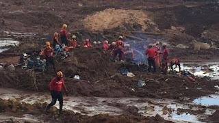 RESUMO  Barragem da Vale se rompeu na sexta em Brumadinho, MG; lama destruiu