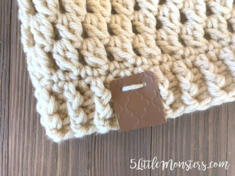 5 Little Monsters: Embossed Leather Tags