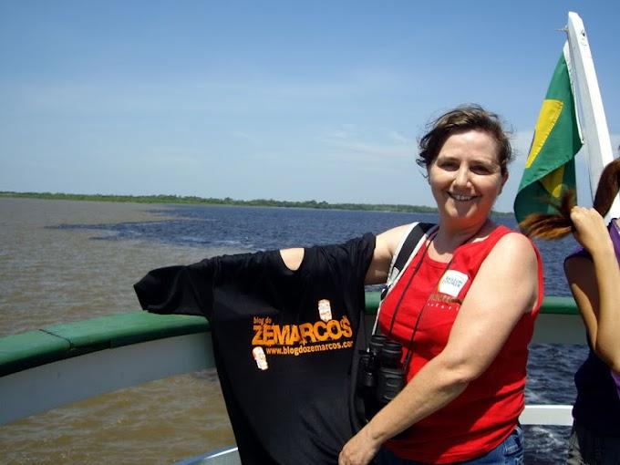 Blog do Zemarcos no rio Amazonas
