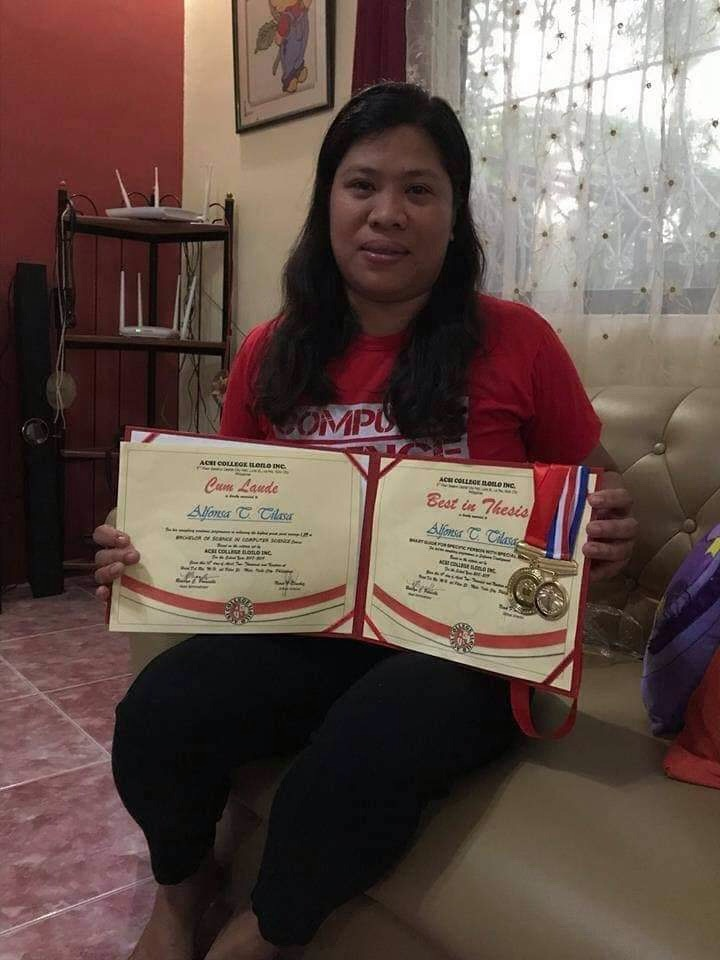 'Kasambahay' sent to college by kind employer, graduates cum laude