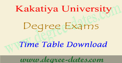KU degree 1st year 2nd final year BSc time table 2017