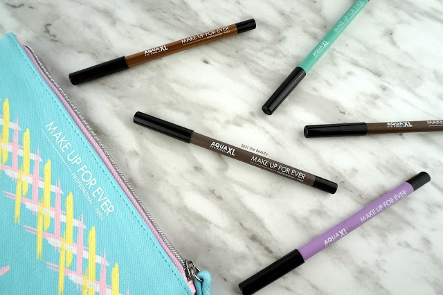 make up for ever aqual xl eyeliner review swatches 1