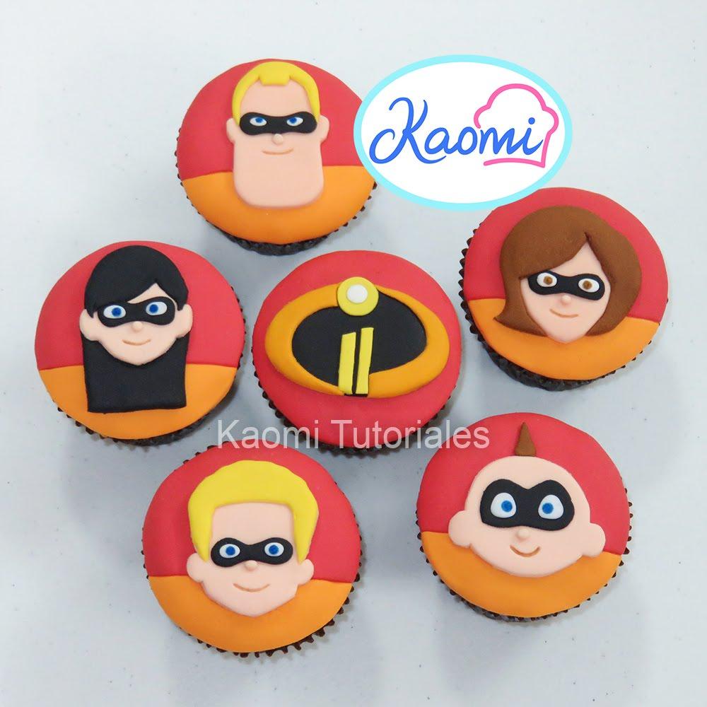 Kaomi Tutoriales Cómo Decorar Cupcakes De Los Increíbles 2