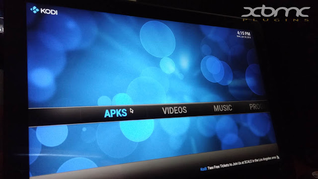 Shorcut APK android in KODI