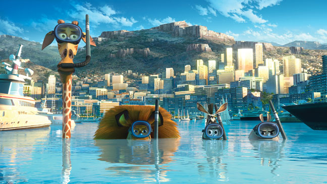 The animals sorkeling in Monte Carlo in Madagascar 3: Europe's Most Wanted Madagascar 3: Europe's Most Wanted http://animatedfilmreviews.filminspector.com/2012/12/madagascar-3-europes-most-wanted-2012.html