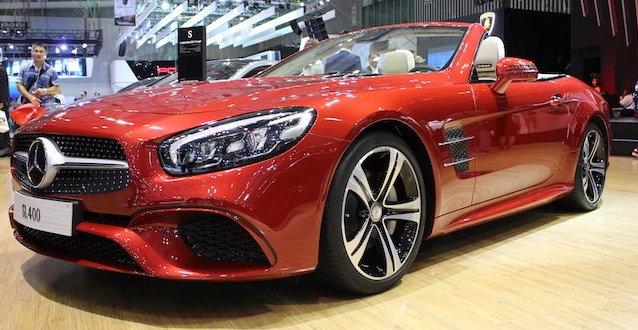 Ngoại thất Mercedes SL 400 thể thao, lôi cuốn mạnh mẽ