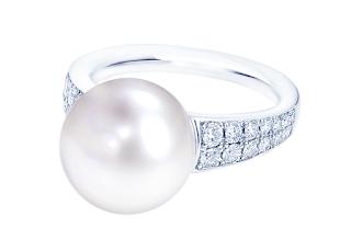 リメイクした南洋真珠のリング