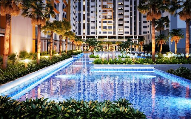 Tiện ích hồ bơi căn hộ Jamila Khang Điền 858m