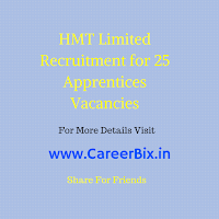 HMT Limited Recruitment for 25 Apprentices Vacancies