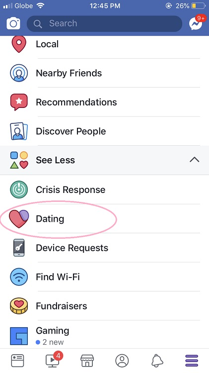 Facebook Dating (In-app Feature)