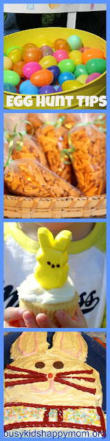 Tips for planning a Neighborhood Easter Egg Hunt: treats, Peeps, and cake