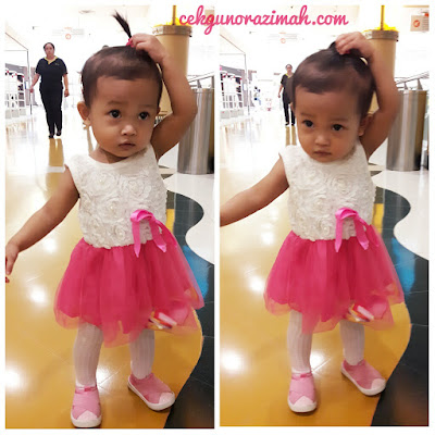 dhia zahra, bayi setahun, tutu skirt