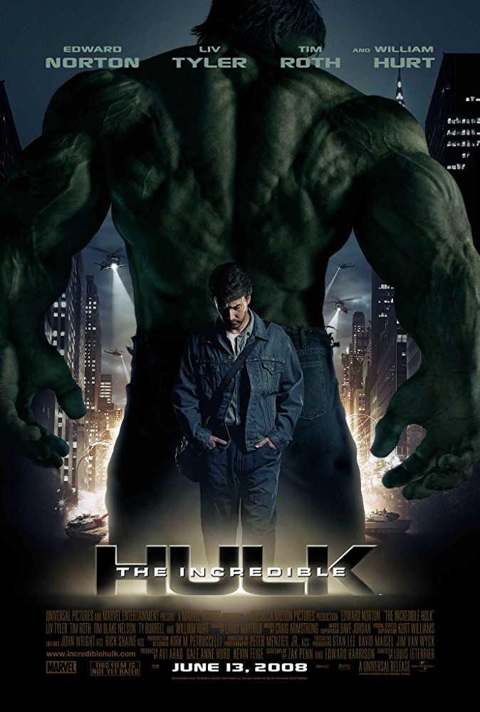 Poster The Incredible Hulk 2008 Dual Audio HD 720p