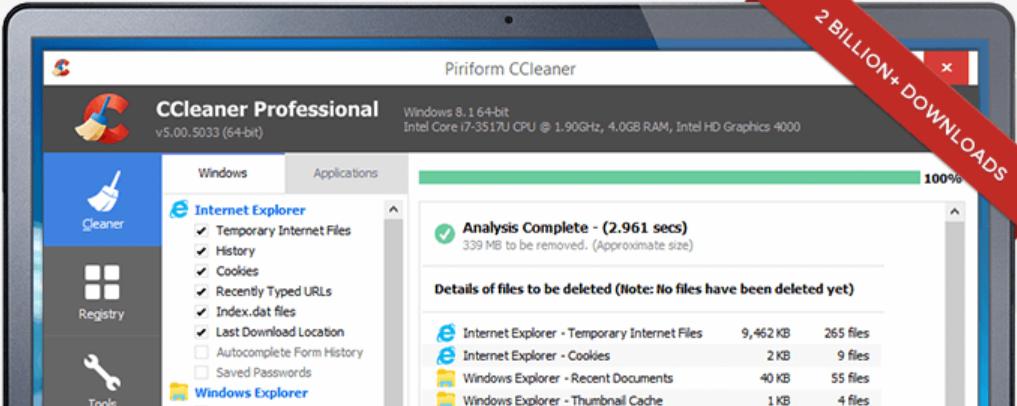 CCleaner 系統清理維護軟體