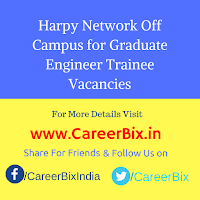 Harpy Network Off Campus for Graduate Engineer Trainee Vacancies