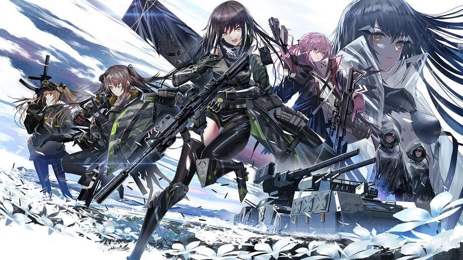 Anime, Girls Frontline, Characters, Weapons, Rifles, Guns, 4K, #6.1087