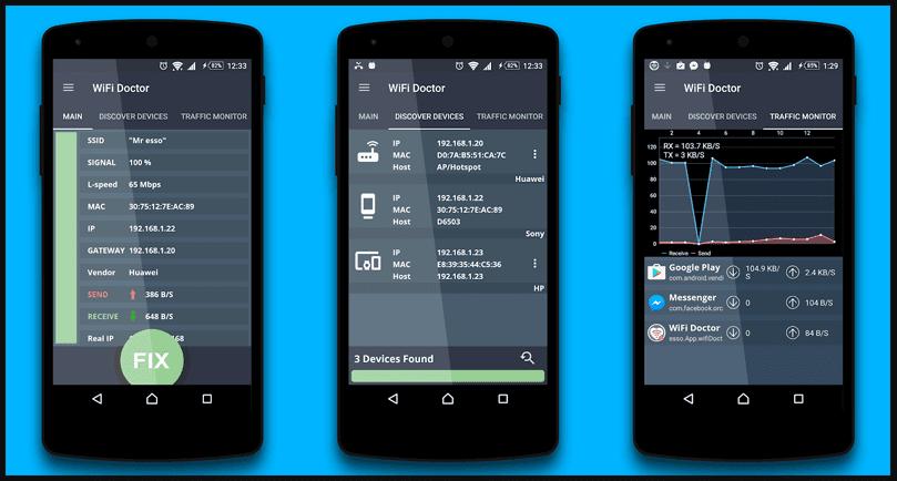 تطبيق WiFi Doctor لحل مشكلات الواي فاي على الهاتف