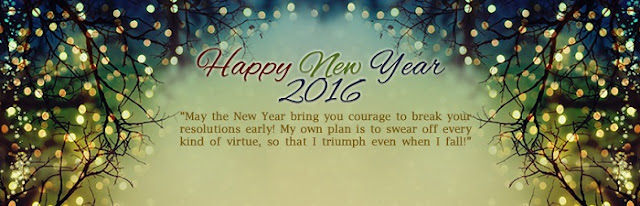 Happy New Year 2016 Wishes Cover Picture for facebook timeline and twitter image