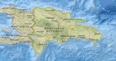Fuerte temblor de tierra se registra en República Dominicana