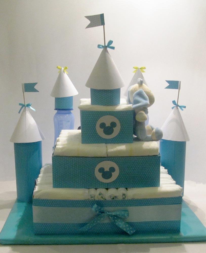 bolo de fralda azul, cha de fraldas simples, cha de bebe simples,bolo de fraldas simples, bolo de fralda meninos, bolo de fraldas menina, cha de bebê, decoração de chá de bebê, chá de fraldas,  bolo de fralda castelo,bolo de fralda de castelo, bolo de fralda com ursinho