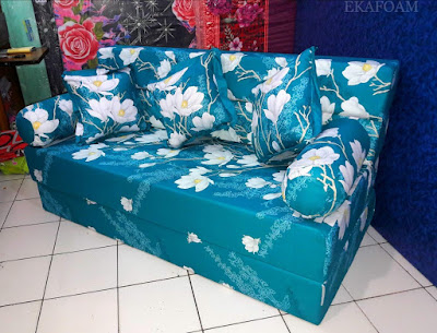 Sofa bed inoac motif alya tosca
