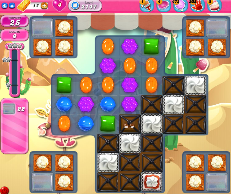 Candy Crush Saga level 2147