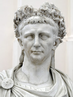 Claudius - as depicted in a marble bust at the  National Archaeological Museum in Naples