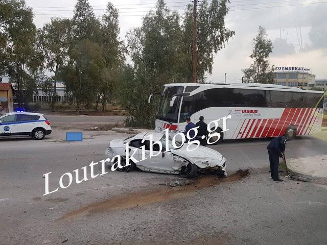 Τροχαίο ατύχημα με εκτροπή αυτοκινήτου στο Ισθμό της Κορίνθου