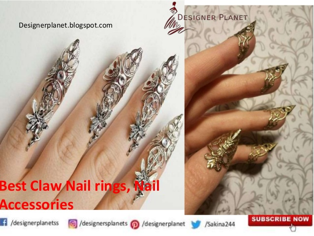 Best Claw Nail rings| Claw Rings | Nail Art Decoration |Nail Accessories | Designerplanet