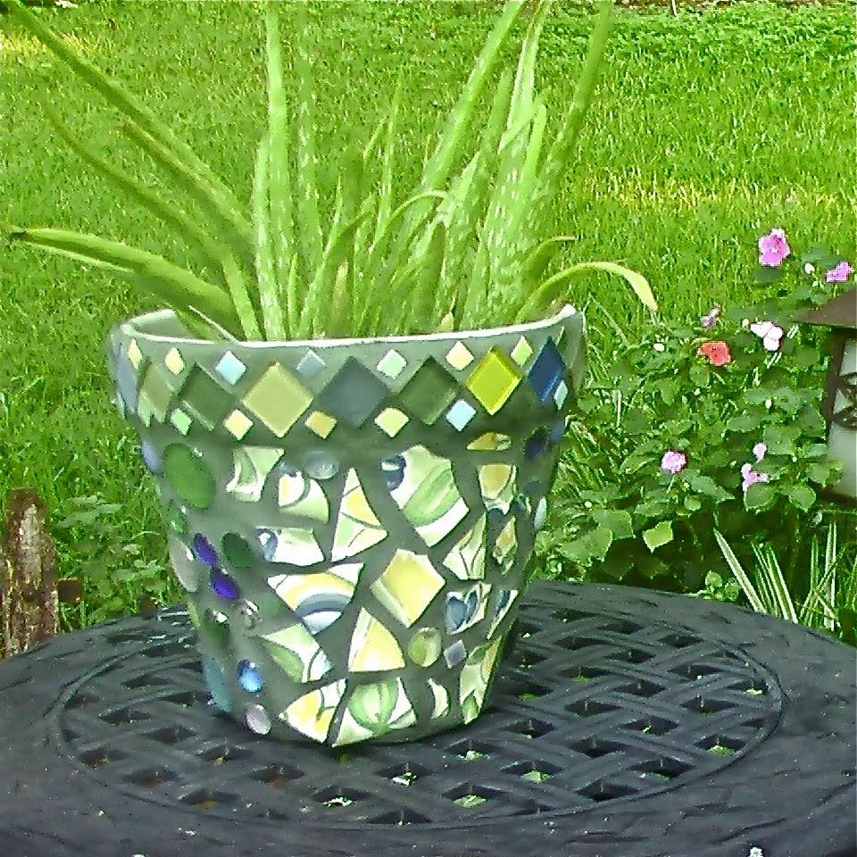 handcrafted mosaic pot