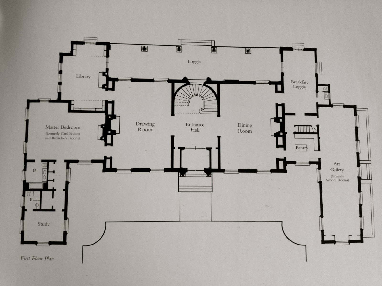 The new floor plan