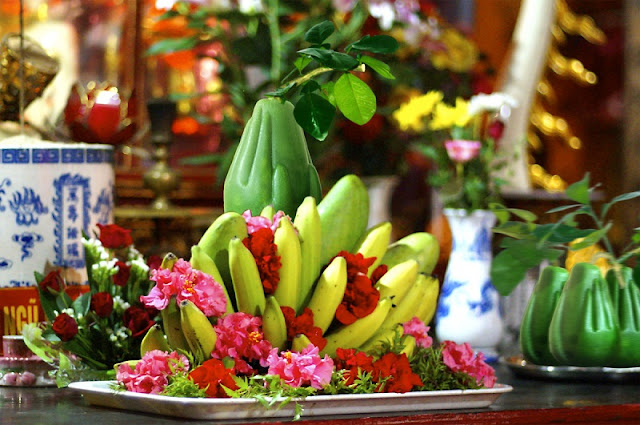 The Plate of Five Fruits in Vietnamese New Year 2