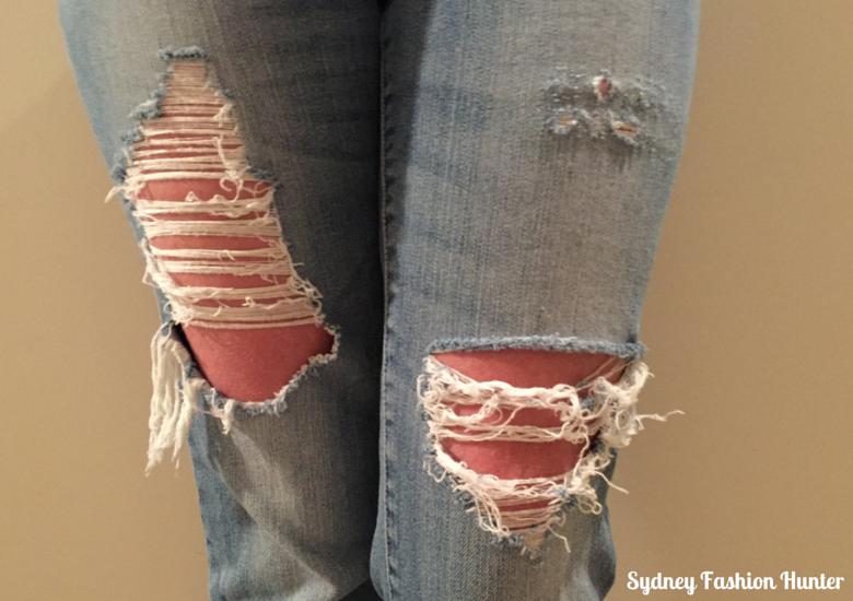 DIY Destroyed Jeans - Finished