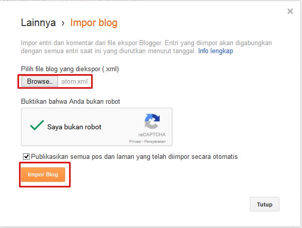 Copy, Ambil Postingan blog lain