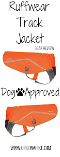 Ruffwear Track Jacket for Pets gear review, Hiking in Utah with Dogs, blaze orange for dogs