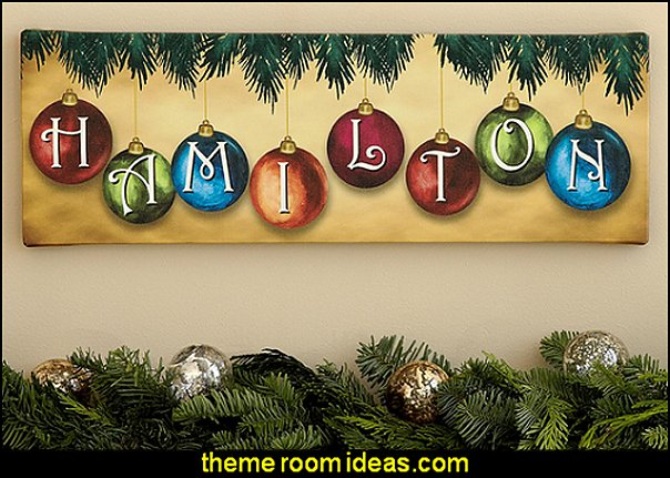 Family Name Ornament Canvas  Christmas decorations
